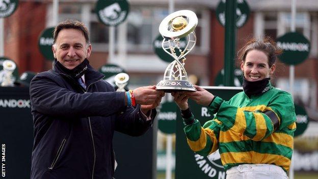 Winning trainer Henry De Bromhead and winning jockey Rachael Blackmore