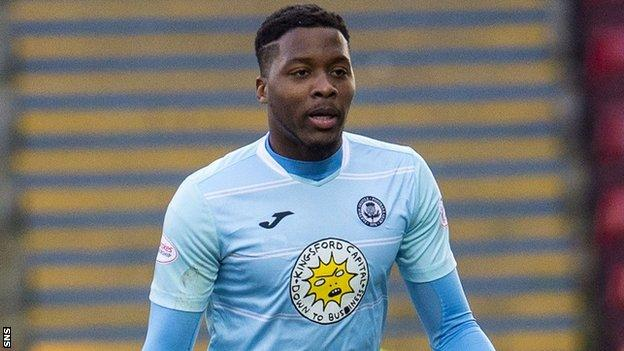 Antonio German in action for Partick Thistle