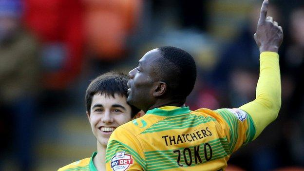 Yeovil Town striker Francois Zoko