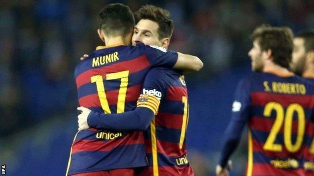 Lionel Messi and Munir El Haddadi