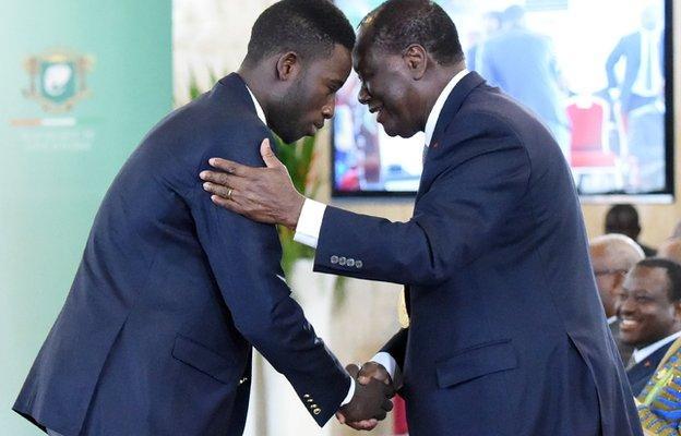 Cisse meets Ivorian president Alassane Ouattara