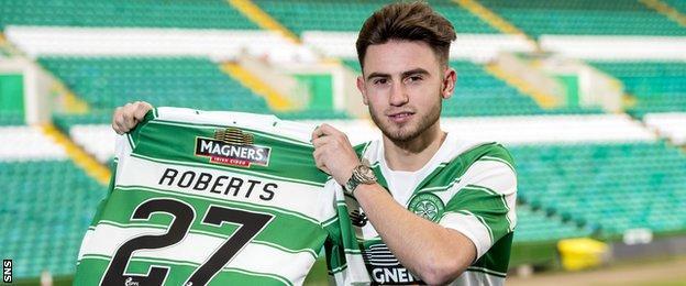 Celtic winger Patrick Roberts