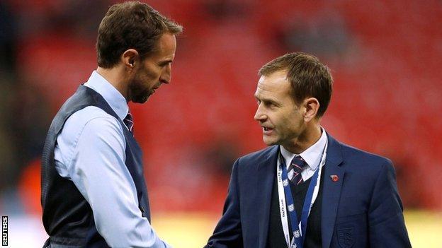 Gareth Southgate and Dan Ashworth meet at Wembley