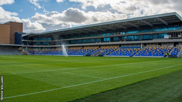 AFC Wimbledon's new stadium at Plough Lane