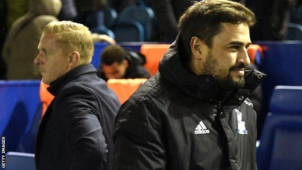 There was no conciliatory handshake before the game for former Birmingham City boss Garry Monk and his old Blues number two Pep Clotet