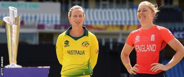 Australia captain Meg Lanning and England skipper Heather Knight