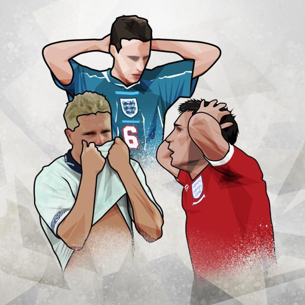 Paul Gascoigne, Gareth Southgate and Frank Lampard