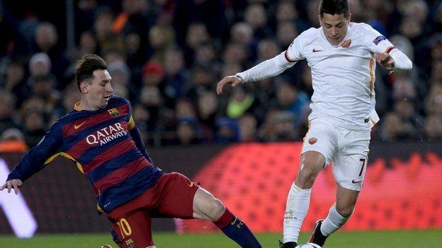 Juan Iturbe and Lionel Messi