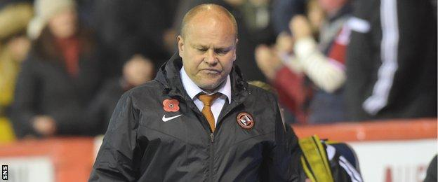 Mixu Paatelainen's Dundee United are three points adrift at the foot of the Scottish Premiership