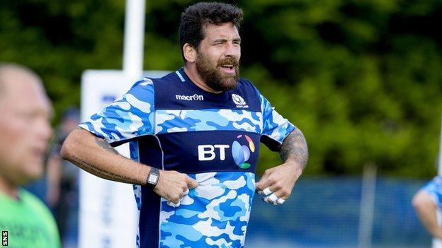 Jim Hamilton in training for Scotland