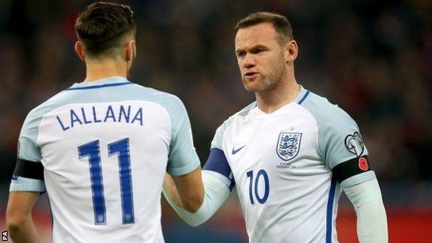 Wayne Rooney and Adam Lallana