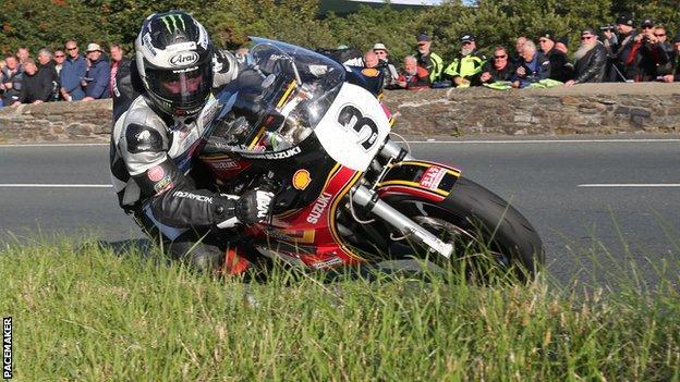 Michael Dunlop was riding a Suzuki in the Formula 1 Classic TT