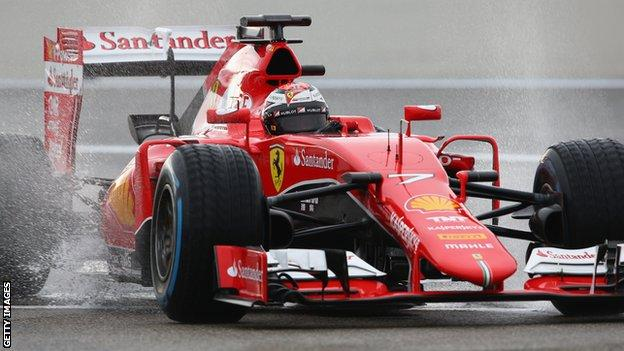 Kimi Raikkonen driving for Ferrari