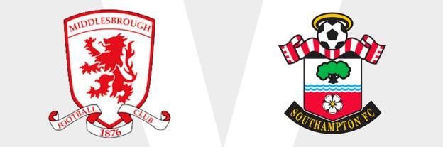 Middlesbrough v Southampton