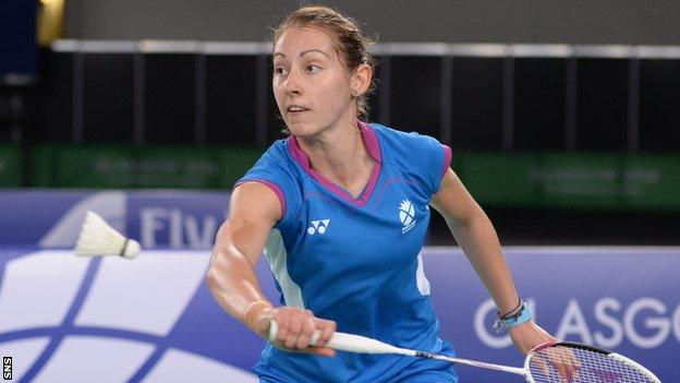 Badminton medallist Kirsty Gilmour