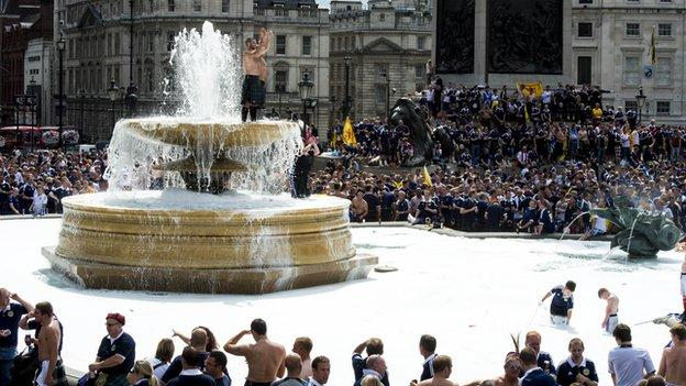 Tartan army in London
