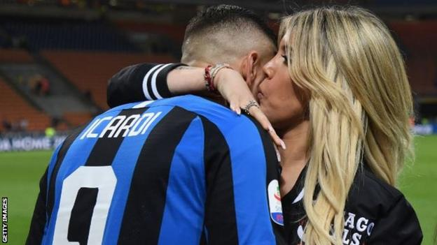 Mauro Icardi's wife, Wanda Nara, is also his agent