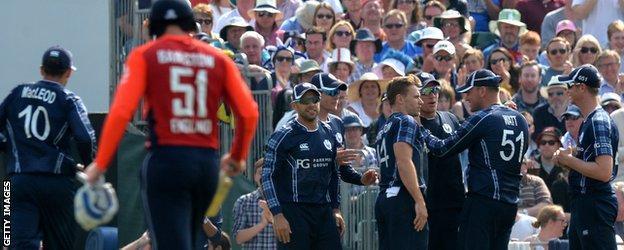 Scotland beat England at cricket