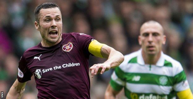 Don Cowie has played almost 60 times for Hearts since joining from Wigan in January last year