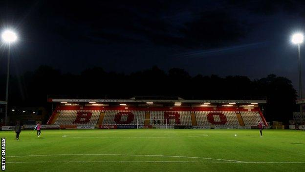 General view of Stevenage's home ground