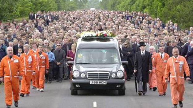 The funeral of Joey Dunlop