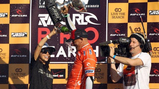 Kelly Slater last won a world surfing title in 201, aged 39