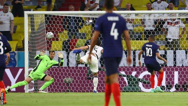 Germany's Mats Hummels scores an own goal in the game against France
