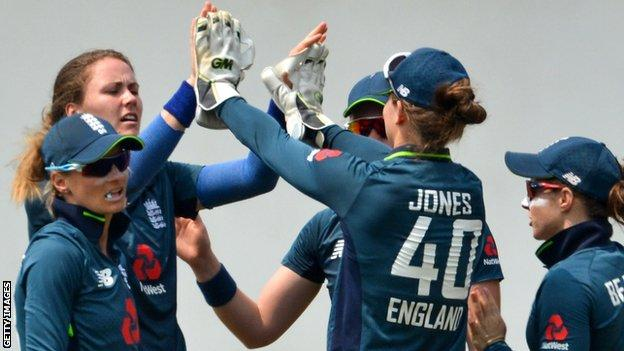 England celebrate a wicket during the game against the Sri Lanka Emerging team