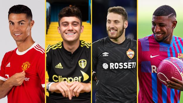 Cristiano Ronaldo, Daniel James, Nikola Vlasic and Emerson Royal