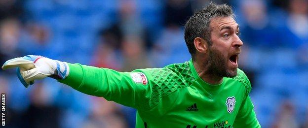 Allan McGregor in action for Cardiff City