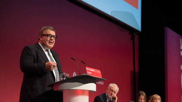 Labour MP Tom Watson speaking at a conference in September 2017