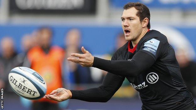 Alex Goode in action for Saracens