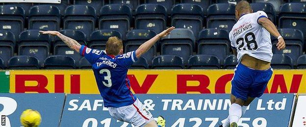 Josh Magennis scores for Kilmarnock