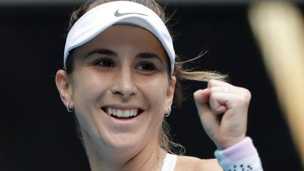 Bencic beats Ostapenko as play delayed on outside courts by dust & mud thumbnail