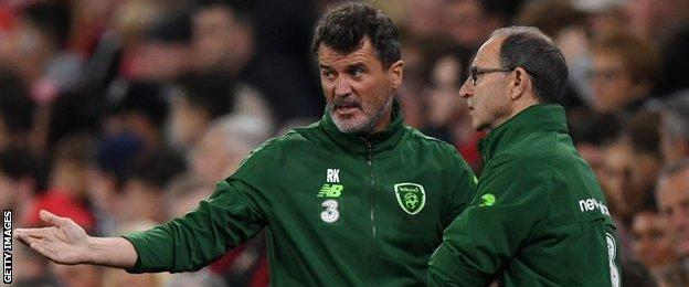 Republic of Ireland boss Martin O'Neill and his assistant Roy Keane see it all go wrong in Cardiff