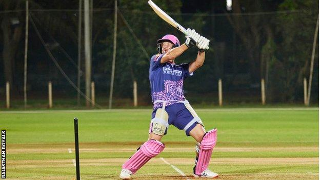 Chris Morris training at Rajasthan Royals