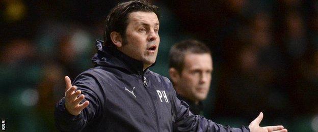 Dundee's Paul Hartley at Celtic Park