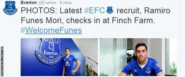 Everton FC Twitter
