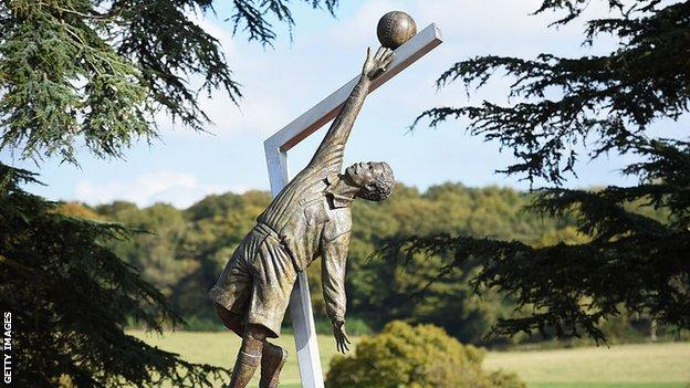 The Arthur Wharton Statue was unveiled in 2014 at St George's Park - in tribute to the world's first black professional footballer