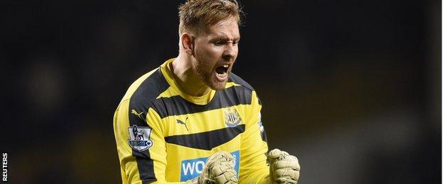 Newcastle United keeper Rob Elliot