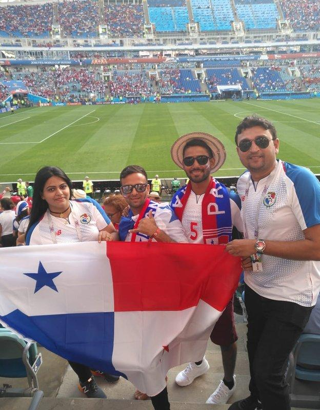Panama fans at the World Cup in Russia