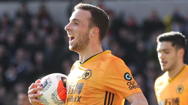 Wolves 3-0 Norwich City: Diogo Jota scoring run continues in convincing win - bbc