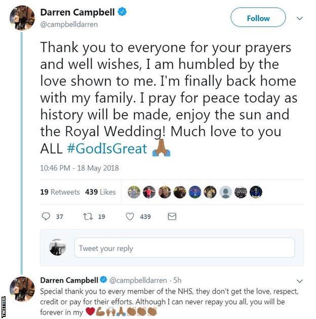 Darren Campbell on Twitter