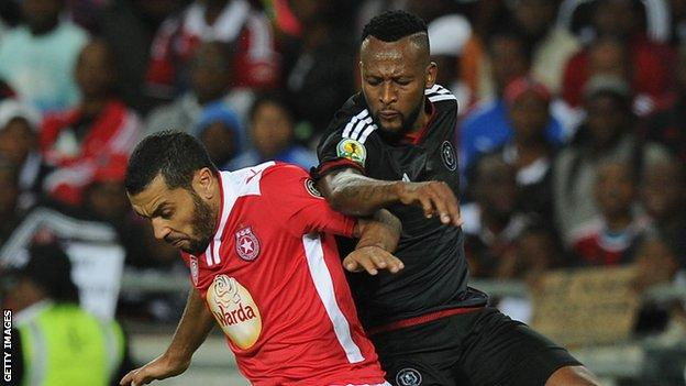 Action from Orlando Pirates against Etoile du Sahel