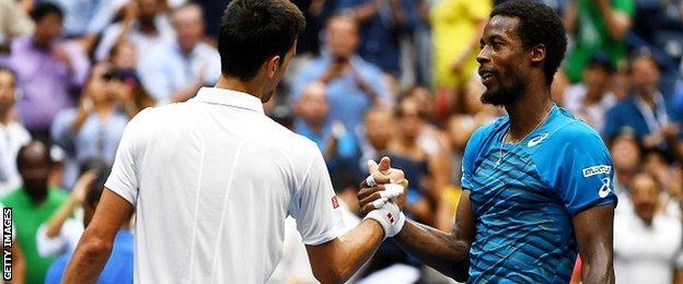 Novak Djokovic and Gael Monfils