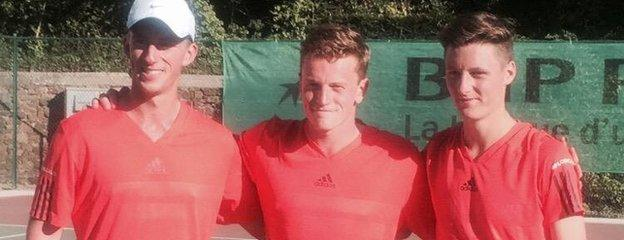 Jersey's men's team tennis gold medallists