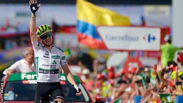 Benjamin King at the Vuelta