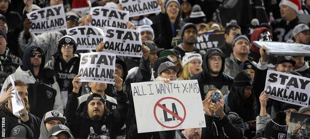 Oakland fans want their team to remain where it is