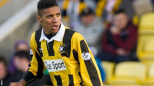 East Fife striker Nathan Austin