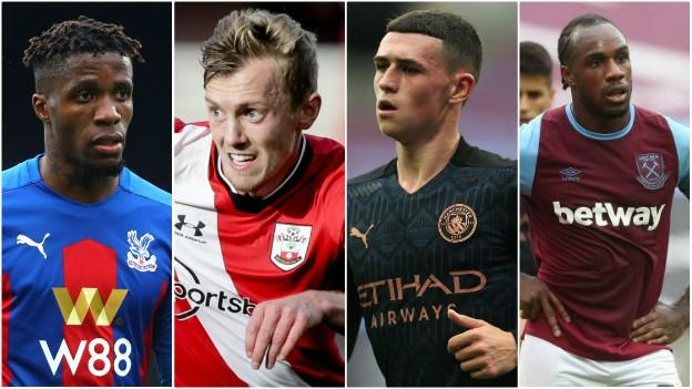 Wilfried Zaha, James Ward-Prowse, Phil Foden, Michael Antonio
